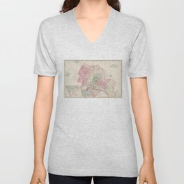 Vintage Map of Richmond VA (1878) Unisex V-Neck