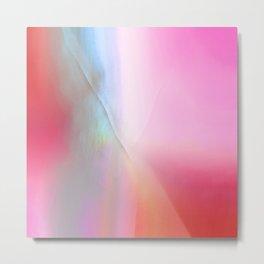 Wabi Sabi Mended Rainbow Gradient Metal Print