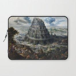Marten van Valckenborch The Tower of Babel Laptop Sleeve