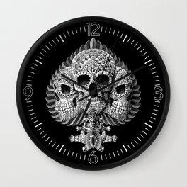 Skull Spade Wall Clock