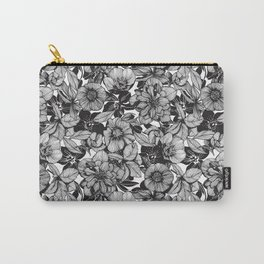 Hellebore lineart florals Carry-All Pouch