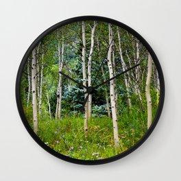 Etherial Aspen Wall Clock