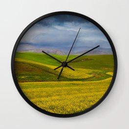 Canola Flowers Wall Clock