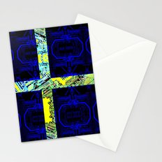 circuit board Sweden (Flag) Stationery Cards