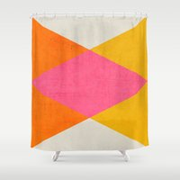 triangles Shower Curtains featuring summer triangles by her art
