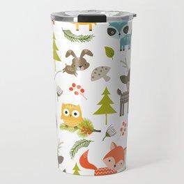 Woodland Animals Travel Mug