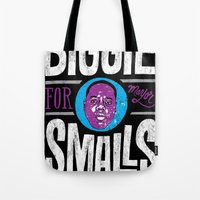 biggie smalls Tote Bags featuring Biggie Smalls for Mayor v.2 by Chris Piascik