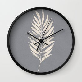 Botanical Tropical Branch 02 - Ivory & Ultimate Gray Wall Clock