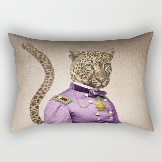 Grand Viceroy Leopold Leopard Rectangular Pillow