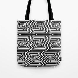 Grey Optical Pattern Tote Bag