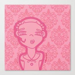 AGATHA (pink) Canvas Print