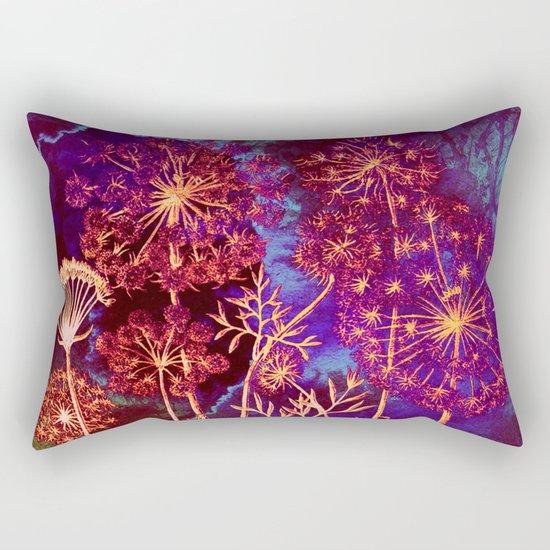 dandelions in the storm Rectangular Pillow