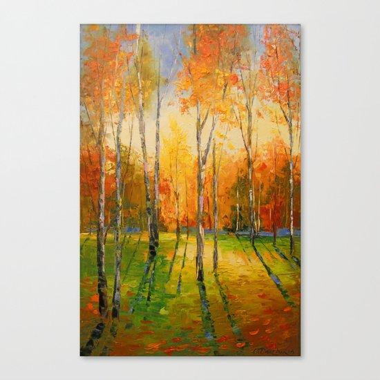 Закат в осеннем лесу Canvas Print