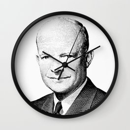 President Dwight Eisenhower Graphic Wall Clock