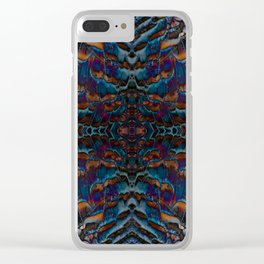 Feather fusion geometry VI Clear iPhone Case