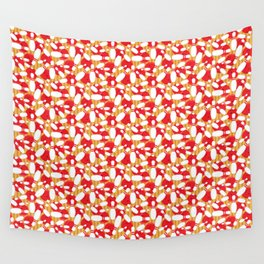 Bowling Alley Balls and Pins Pattern Wall Tapestry