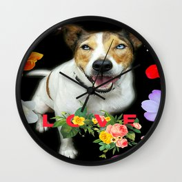 Harry Floral Love  Wall Clock
