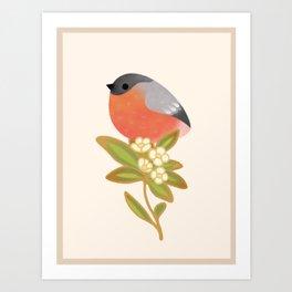 Eurasian bullfinch Art Print