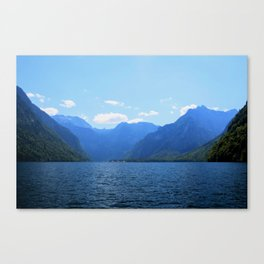 Koenigssee Lake with Alpes Mountains 2 Canvas Print