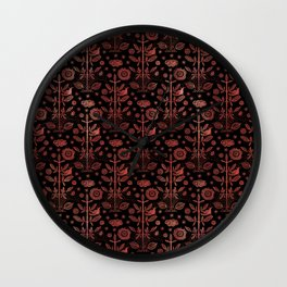 Good Fortune no. 1 Cinnabar Wall Clock