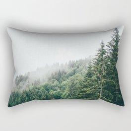 Mist Fog Forest Rectangular Pillow