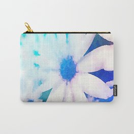 Painted Blue Flowers Carry-All Pouch