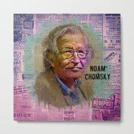NOAM CHOMSKY  Metal Print