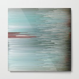 Planet Pixel Intersection Metal Print