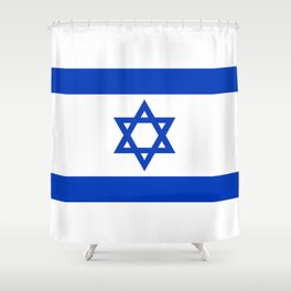 Flag of the State of Israel - High Quality Image Shower Curtain