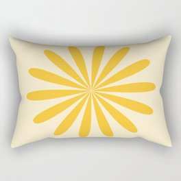 Big Daisy - Minimalist Floral Abstract in Mustard and Buttercream Rectangular Pillow