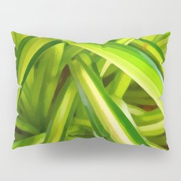 Spider Plant Leaves Pillow Sham