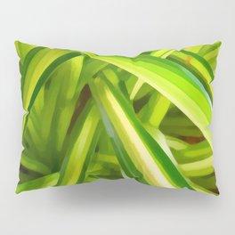 Spider Plant Leaves Pillow Sham