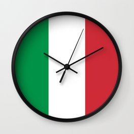 Flag of Italy, High Quality Authentic Wall Clock