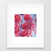 alcohol Framed Art Prints featuring Alcohol Jellies by Kyla Frank