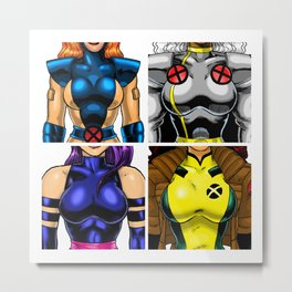 90's Hero Group (Female) Metal Print
