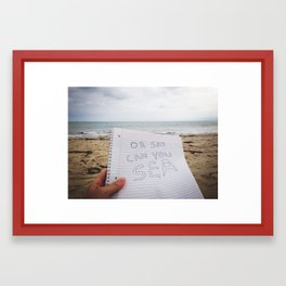 Oh Say Can You Sea 2.0 Framed Art Print