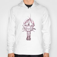 lobster Hoodies featuring Lobster by Kathryn Robertson