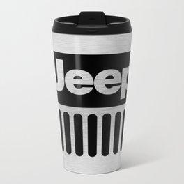 Jeep Steel Chrome Metal Travel Mug