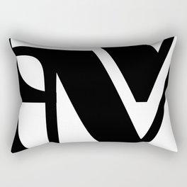 Hidden Letters. Baskerville M Rectangular Pillow