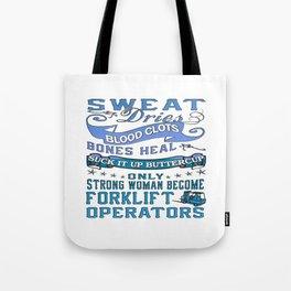 Forklift Operator Woman Tote Bag