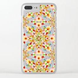 Kaleidoscope Fiesta Clear iPhone Case