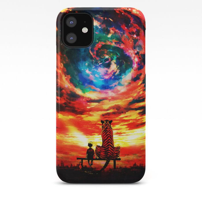 calvin and hobbes art iphone case