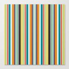 llama stripe Canvas Print