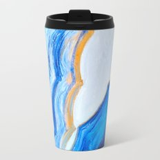 Blue and gold agate Travel Mug