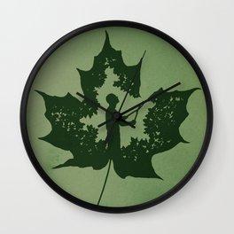 A New Leaf Wall Clock