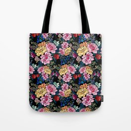 stylish winter flowers bouquets illustration Tote Bag