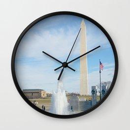 washington monument photography art Wall Clock