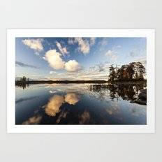 reflections on South Bay Art Print