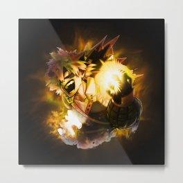 Katsuki Bakugou Flame Metal Print