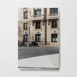 BMW's on The Cobblestones Metal Print